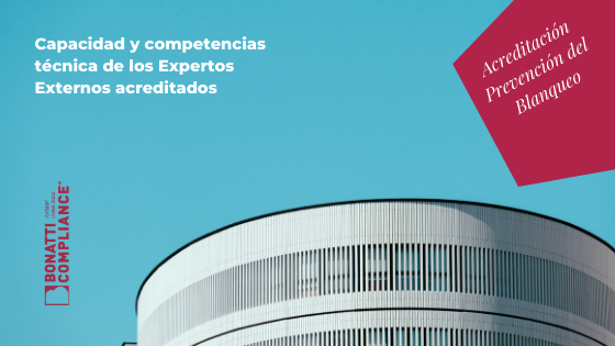 Competencia técnica experto externo ENAC Bonatti Blanqueo Capitales